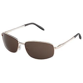 Burgmeister - نظارات شمسية SBM119-122 مستطيلة، رجالية، ذهبية