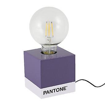 PANTONE Lampe de table Cube Couleur Violet, Blanc, Noir, en Bois L9,5xP9,5xA9,5 cm