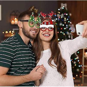 4 части Рождественские очки кадр и повязки Симпатичные волосы обруч Украшения Аксессуары Подарки для Xmas партии