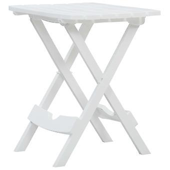 vidaXL Puutarhapöytä Taitettava 45,5 x 38,5 x 50 cm Valkoinen