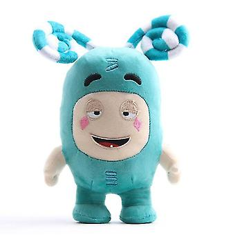 23Cm yeşil oddbods peluş oyuncak bebek, karikatür anime bebek az7724