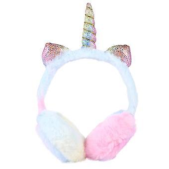 27X16.5x11cm rosa nydelig enhjørning øreklokke barn varm øreklokke enhjørning øre varmere vinter øredeksel dt4200
