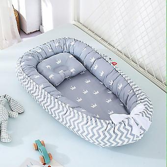 Baby Nest Bed, Pure Cotton Cushion Washable Bed