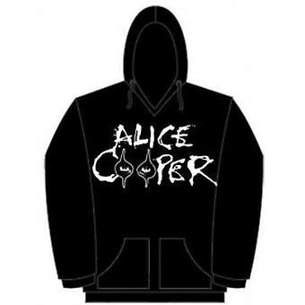 Alice Cooper Eyes Logo Mens Pouched Hoodie: Medium