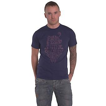 Pink Floyd T Shirt SOYCD Vintage Band Logo nieuwe Officiële Mens Navy Blue