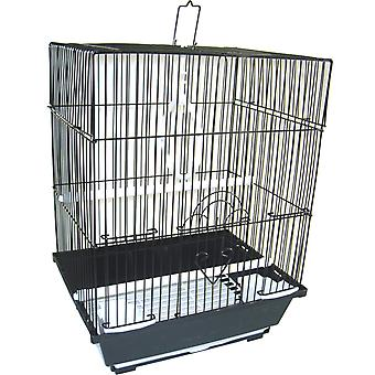 """Yml A1124Mblk Flat Top Small Parakeet Cage, 11"""" X 8.5"""" X 14"""""""
