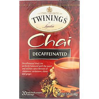 Twining Tea Tea Dcf Chai, Case of 6 X 20 Bags