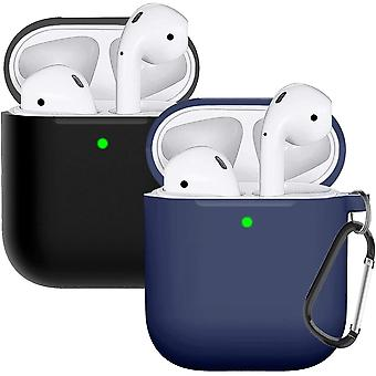 2pcs Silicone Protective Case Compatible With Airpods Case 2&1