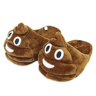 Emojy Funny Qq Expression Stool Plush Slippers Warm Shoes