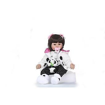 23'' Muñecas renacidas de silicona hechas a mano niña real bebé renacido muñecas niños regalo bonecas brinquedos bebe muñeca renacido para niña