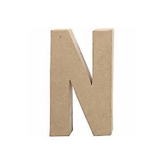 20,5cm papel grande Mache Letra N | Formas de Papel Mache