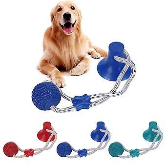 الحيوانات الأليفة مولار لدغة لعبة مع كوب شفط المطاط مضغ اللعب تنظيف الأسنان