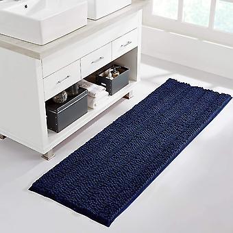 Navy bathroom rug, extra thick indoor outdoor durable doormat for front door, anti-slip  bath living room bedroom mat