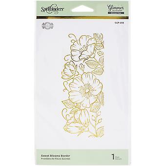 Spellbinders Glimmer Hot Foil Plate By Becca Feeken - Sweet Blooms Border-Delicate Impressions