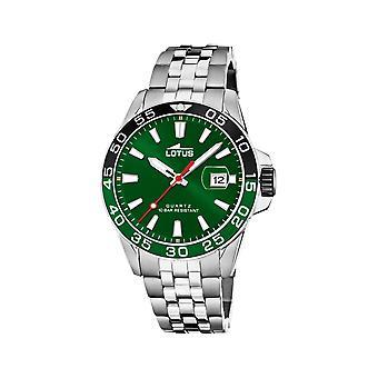 لوتس L18766-2 الأخضر الطلب الفولاذ المقاوم للصدأ سوار ساعة اليد