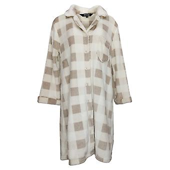 Soft & Cozy Women's Front Button Robe Ivory 670934