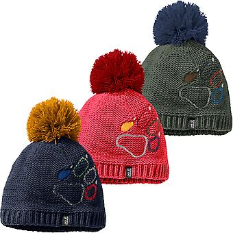 Jack Wolfskin Copii Copii Laba Knit cald de iarnă termică Bobble Beanie Hat Cap