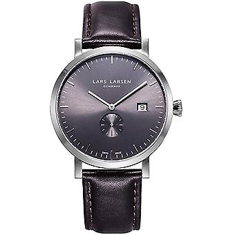 LLarsen (Lars Larsen Brown Genuine Leather) 131SGBLL Men's Watch