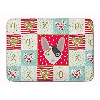 Bath mats rugs cornish rex cat love machine washable memory foam mat