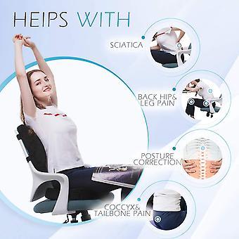 Orthopädisches Sitzkissen und Rücken- und Lendenwirbelstütze Kissen Kissen für Bürostuhl Memory Foam Autositzkissen