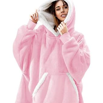 Pajamas Portable Lamb Velvet Lazy Blanket Home Casual Plush Sweater With Hood