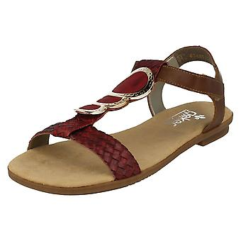 Ladies Rieker Antistress flate sandaler 64278