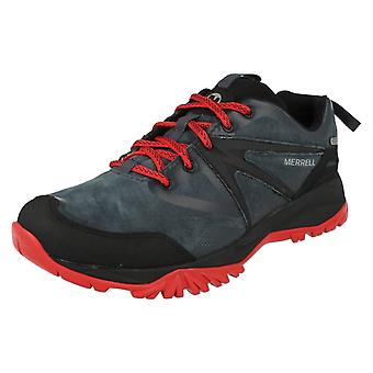 Mens Merrell Waterproof Lace Up Trainers Capra Bolt Leather WTPF