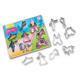 Cooksmart Kids 8 Piece Princess Cookie Cutter Set