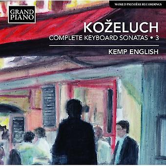 Kozeluch - Comp Keyboard Sonatas Vol 3 [CD] USA import