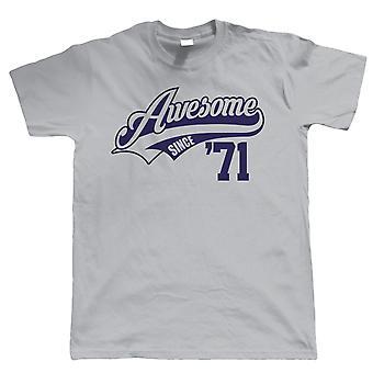 Incrível desde 1971, Mens Funny T Shirt - Presente para Ele Pai Vovô