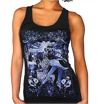 Wild star - black heart ballet - womens vest top