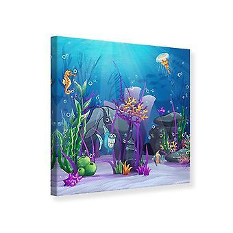 Caza del tesoro submarino impresión lienzo