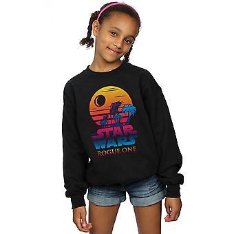 Star Wars Girls Gauner ein Logo Sonnenuntergang Sweatshirt
