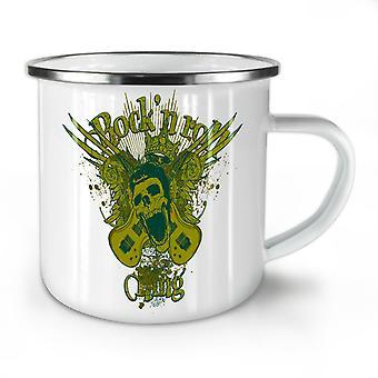 Rock N Roll Gang Music NEW WhiteTea Coffee Enamel Mug10 oz | Wellcoda