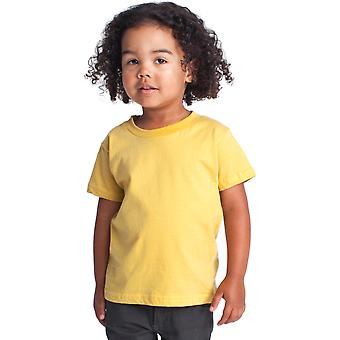 Ropa americana niños y niñas fino Jersey de manga corta camiseta niños