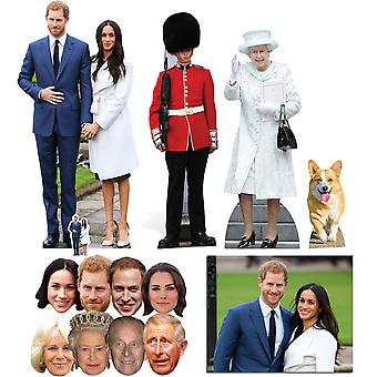 Mariage royal 2018 Prince Harry & Meghan Markle Découpe / Standee & Mask Gold Package