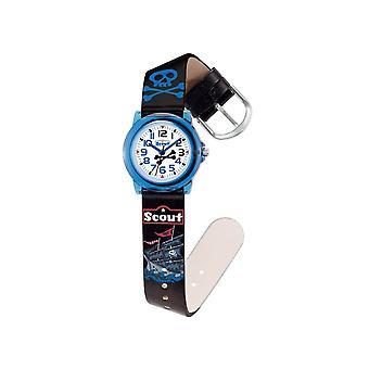 Scout kind horloge leren Crystal - piraat jongens horloge 280305016
