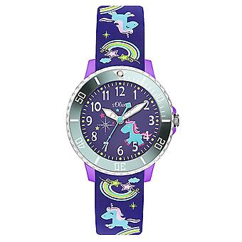 s. Oliver silicone band orologio bambini SO-3434-PQ