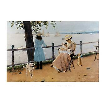Afternoon by the Sea Poster Print by William Chase (34 x 24)