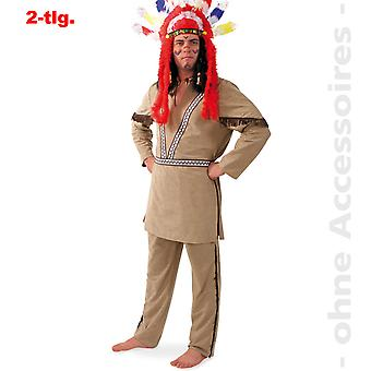 Indiske menn drakt Manitu sjef Apache menn drakt