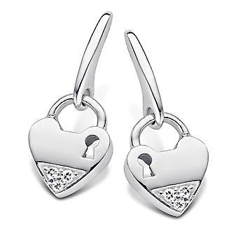 Orphelia Silver 925 Earring Heart Zirconium   ZO-5144