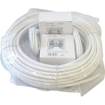 BKL électronique 0809010 coaxial extérieur diamètre: 6,60 mm 75 Ω 90 dB White 1 Set