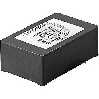 Schaffner FN 402-0.5-02 EMI filter 250 V AC 0.5 A 40 mH (L x W x H) 45 x 28 x 16.5 mm 1 pc(s)