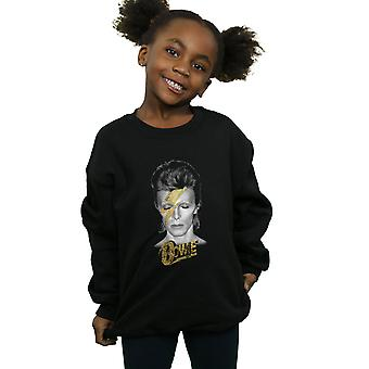 David Bowie Girls Aladdin Sane Gold Bolt Sweatshirt