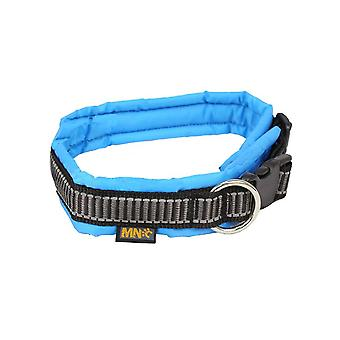 MNC Pet Products Classic Nylon Soft Padded Collar for Dogs, Blue