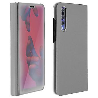 Flip Case, Case-Spiegel für Huawei P20 Pro, stehend Cover - Silber