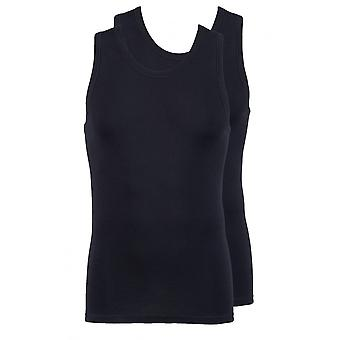 Jockey Modern Classic Athletic Vest Top 2-Pack Black
