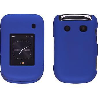 Sprint Dos piezas Soft Touch Snap-On Case (Delantero/Atrás) para BlackBerry Style 9670 (Azul Cobalto)