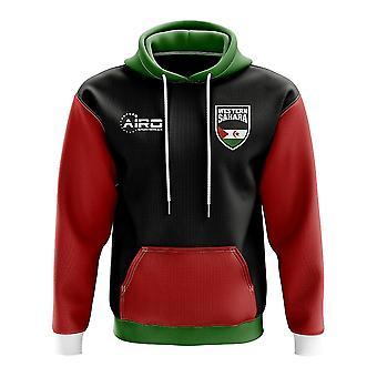 Västsahara konceptet landet fotboll Hoody (svart)