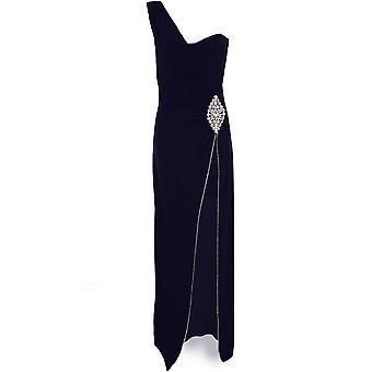Hyvät yksi aukko Diamante vyötärö leikata pehmustettu Split piukka Bodycon Maxi mekko